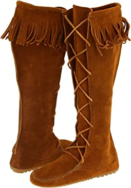 Minnetonka - Front Lace Hardsole Knee-Hi Boot