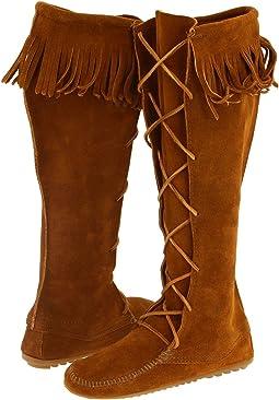 Minnetonka - Front Lace Hardsole Knee-Hi Boot