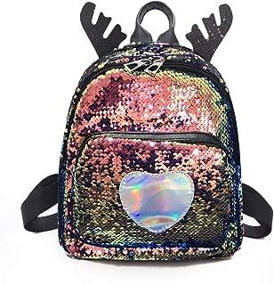 chinatera Fashion Mini Backpacks Mermaid Sequin Travel School Daypack for Women Girls