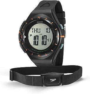 Relógio Monitor Cardíaco, Speedo, 58010G0EVNP1, Preto-Laranja