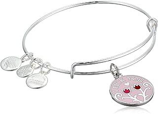 Women's Color Infusion, I Pick You Charm Bangle Bracelet, Shiny Silver