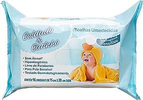 Toalhas Umedecidas Sensitive, 96 unidades, Cuidado & Carinho