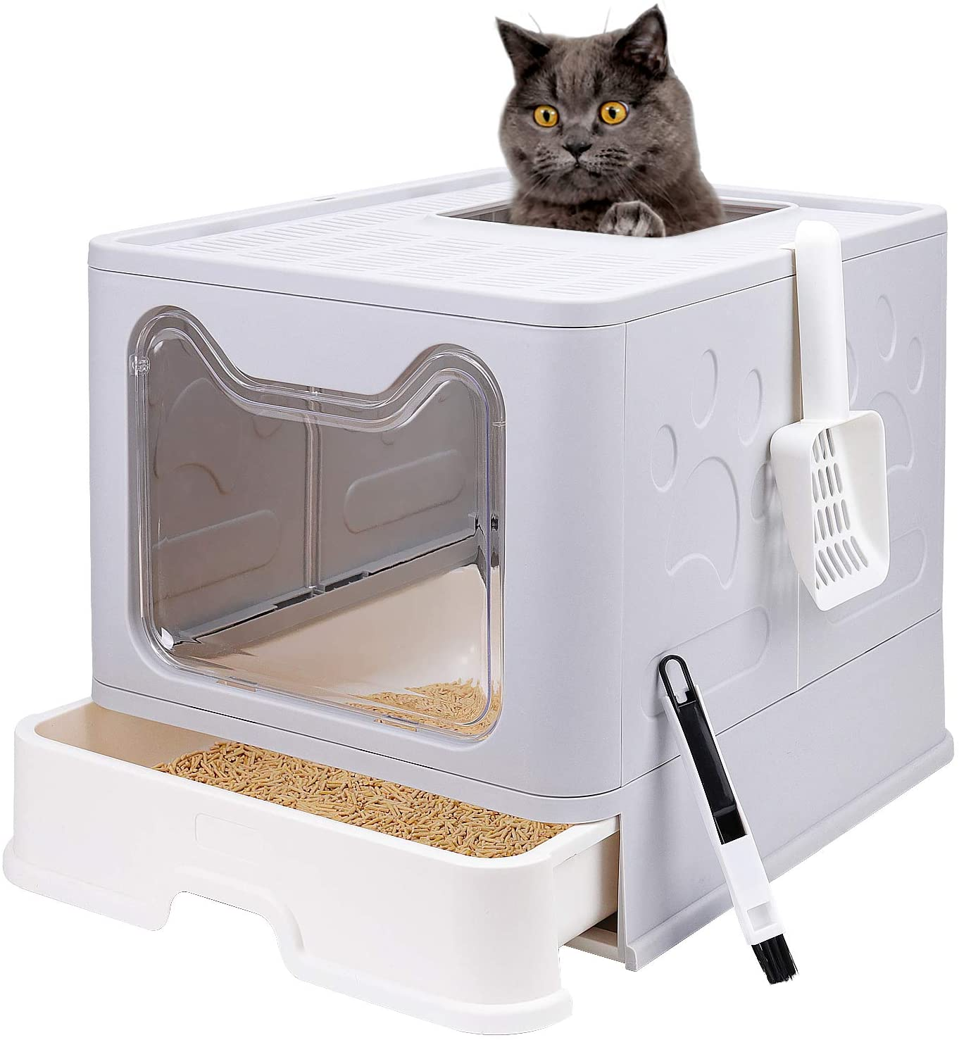 Foldable Cat Litter Box with Sale Entry Japan Maker New Enclosed Top Lid Potty