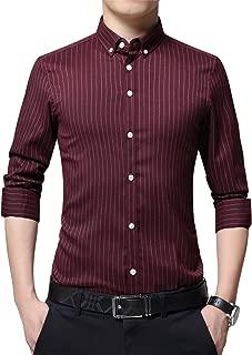 Men's Long Sleeve Casual Slim Fit Business Button Down Dress Shirt