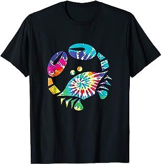 Fun toy crab illustration tie dye graphic Tee Shirt