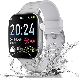 Smartwatch Reloj Inteligente, IP68 Impermeable 1.4 Pantalla Táctil Completa con Pulsómetro Cronómetro Pulsera Deporte con ...