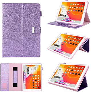 $45 » Jennyfly Air iPad Case with Stand, PU Leather Multi-Viewing Smart Auto Wake/Sleep with Pencil Strap and Card Slot Hand Free Stand Soft Back Protective Cover for 9.7 inch iPad Air/Air 2 - Purple