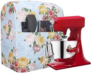 Cubiertas para batidora de cocina, organizador a prueba de polvo, protector acolchado de poliéster para mezclador de cocina, antihuellas, se adapta a todos los mezcladores de 6 – 8 cuartos de galón