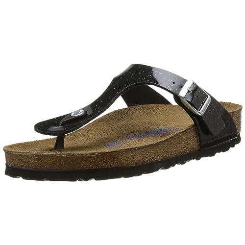 Birkenstock – Arizona – Sandalen mit Riemen in schwarzem Lackleder