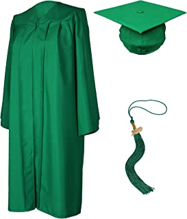 emerald green graduation gown