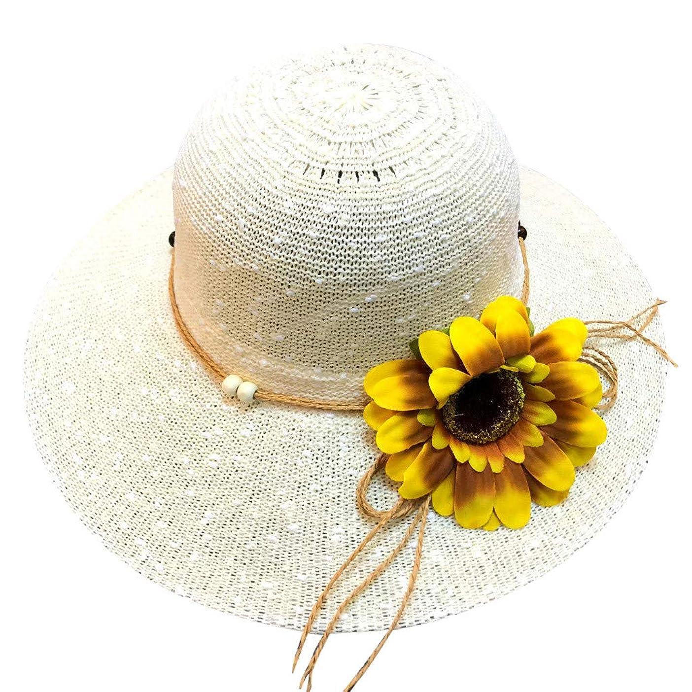 憧れ自然クライマックス帽子 レディース アウトドア 夏 春 UVカット 帽子 ハット 漁師帽 日焼け防止 つば広 紫外線対策 大きいサイズ ひまわり 可愛い ハット 旅行用 日よけ 夏季 ビーチ 無地 ハット レディース 女性 ROSE ROMAN