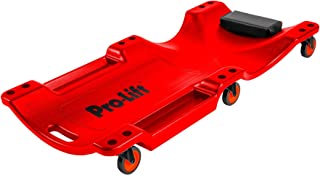 Pro Lift Mechanic Plastic Creeper 40 Inch - Blow Molded Ergonomic HDPE Body with Padded Headrest & Dual Tool Trays - 350 L...