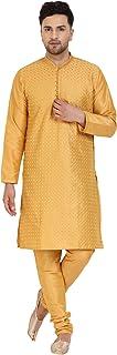 SKAVIJ Men's Tunic Kurta Pyjama Set Party Wear Ethnic Dress
