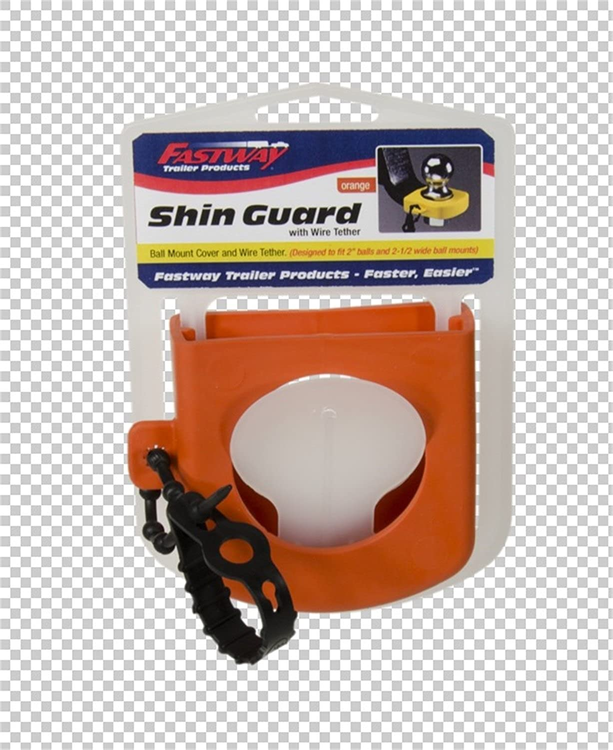 Hitch Shin Guard orange with wire Tether