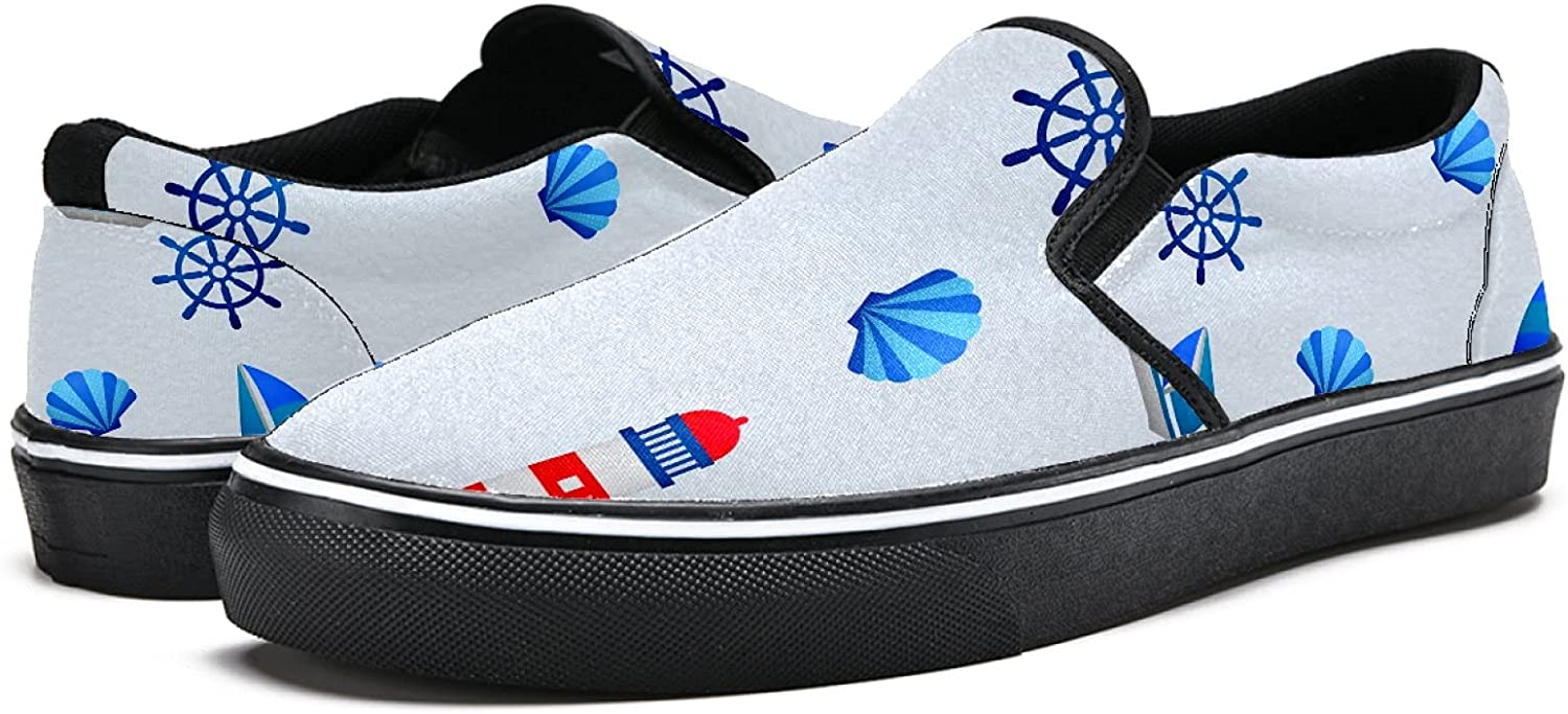 Men's Classic Slip-on Canvas Shoe Fashion Sneaker Casual Walking Shoes Loafers 13 Nautical