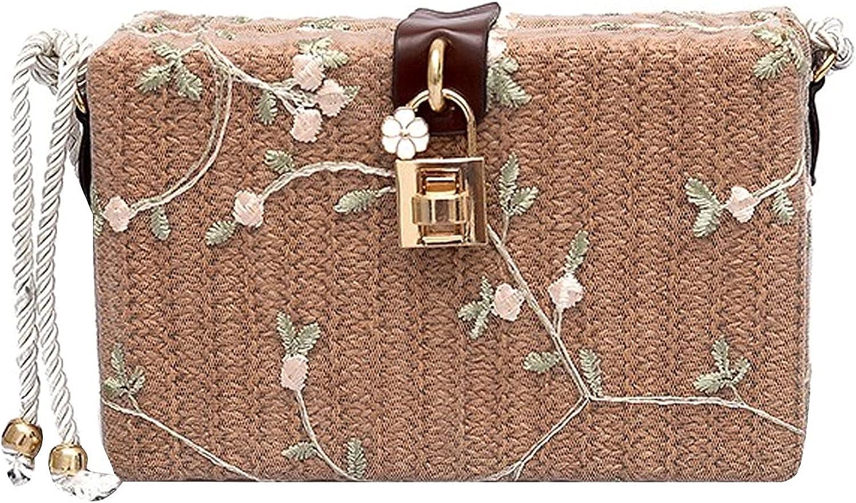 Felice Ann Mini Straw Handmade Woven Crossbody Bag Bohemian Beach Shoulder Bag
