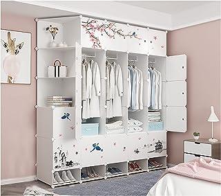 LJWLZFVT PenderiesArmoire Pliante étagères de Rangement, armoires, penderies Portables Plastique Grande capacité pour Obje...