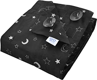 Tommee Tippee GroAnywhere Portable Travel Baby Blackout Blind, Star and Moon, Black