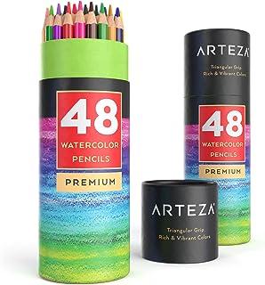 مدادهای آبرنگ ARTEZA ، نرم-هسته ای ، مثلثی شکل ، پیش تیز (بسته 48)