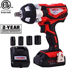 Dobetter Cordless Impact Wrench 1/2 Inch Compact Driver Battery Impact Wrench 1/2 Inch High Torque Portable Impact Gun 20V Electric Impact Too -DBCIW20