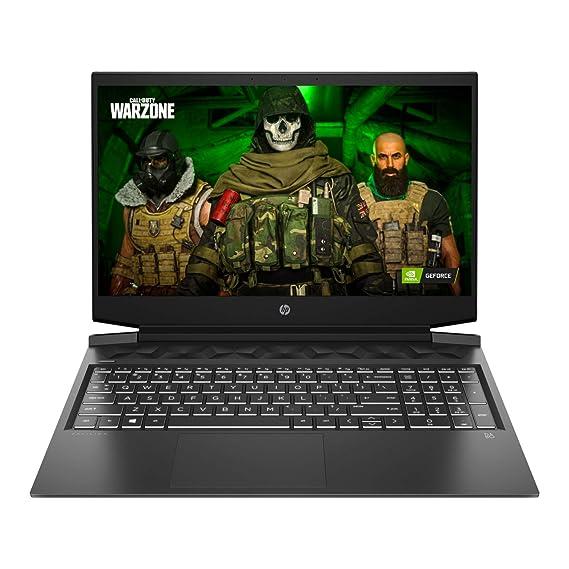 "HP Pavilion Gaming 10th Gen Intel Core i5 Processor 16.1"" (40.9 cms) FHD Gaming Laptop (8GB/1TB HDD + 256GB SSD/Windows 10/MS Office/NVIDIA GTX 1650 4GB/Shadow Black), 16-a0022TX"