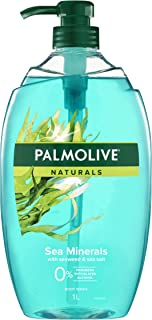 Palmolive Naturals Body Wash 1L, Sea Minerals with Seaweed and Sea Salt, Soap Free Shower Gel, No Parabens Phthalates or A...