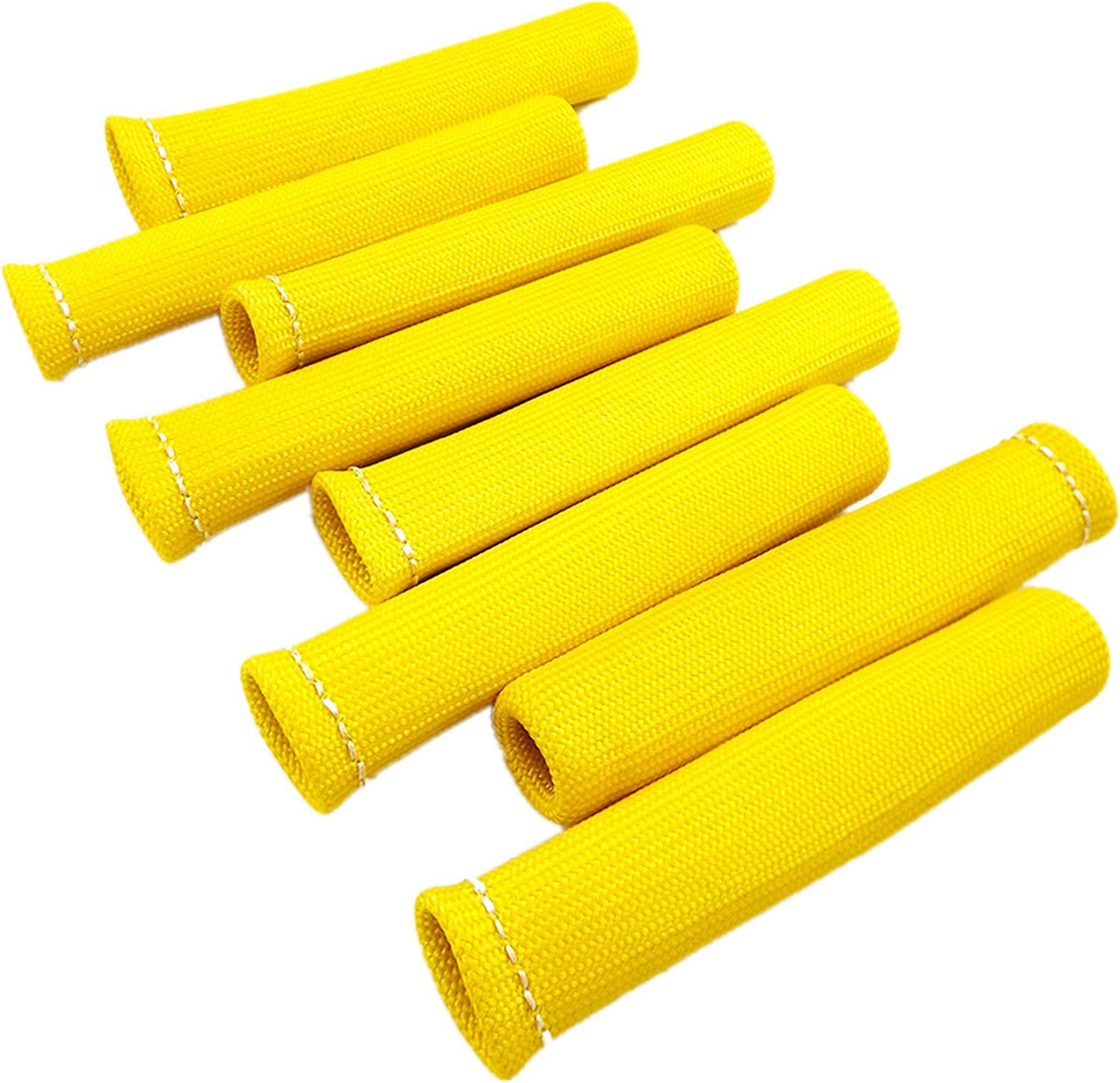 waltyotur Yellow 8pcs 1200°Spark Don't miss the campaign Plug Save money Heat Boots Shield Wire