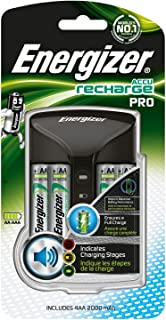 Energizer Laddare batterier, Recharge Pro, för uppladdningsbara batterier i storlekarna AA och AAA