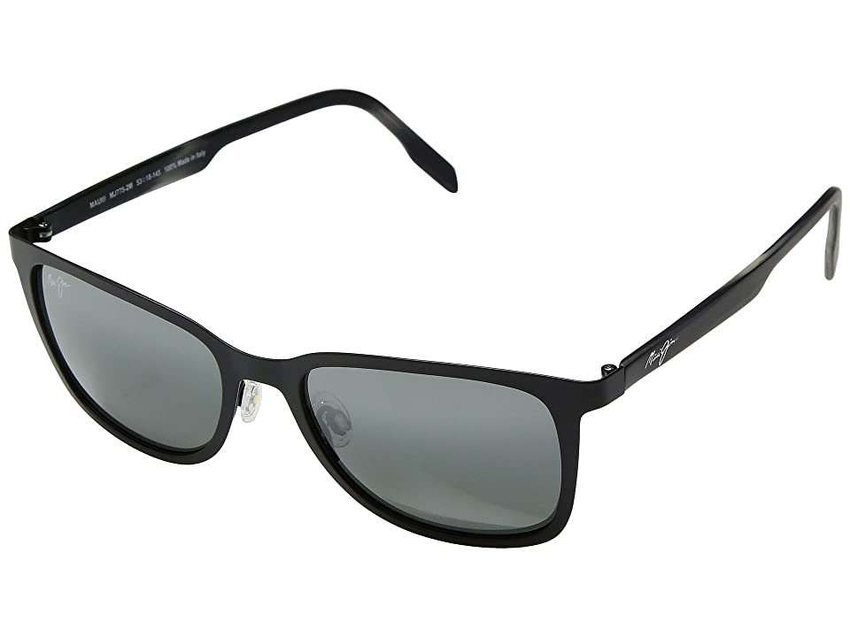 Maui Jim Naupaka (Satin Black/Neutral Grey) Athletic Performance Sport Sunglasses