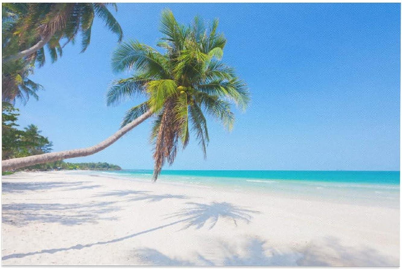Ranking TOP5 JGYJF Beach Sun Sand Sea Coconut Fort Worth Mall De Canvas Tree45 Bedroom Poster