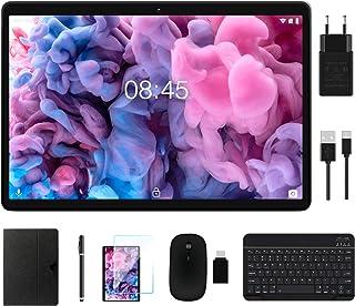 MEBERRY Tablet 10 Pulgadas WI-FI+Cellular 4GB RAM+64GB ROM Android 10.0 Ultrar-Rápido Tablets - Google GMS | Dual SIM & Dual Cámara(5MP + 8MP) | 8000mAh | Bluetooth | GPS, Teclado&Ratón - Gris