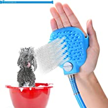 YTT Pet Bathing Sprayer Scrubber Shower Message and Grooming Tool Supply, Combination Multi-Functional Sprayer and Scrubber,with 8.2 Feet Hose and Silicone Brush for Indoor and Outdoor Use