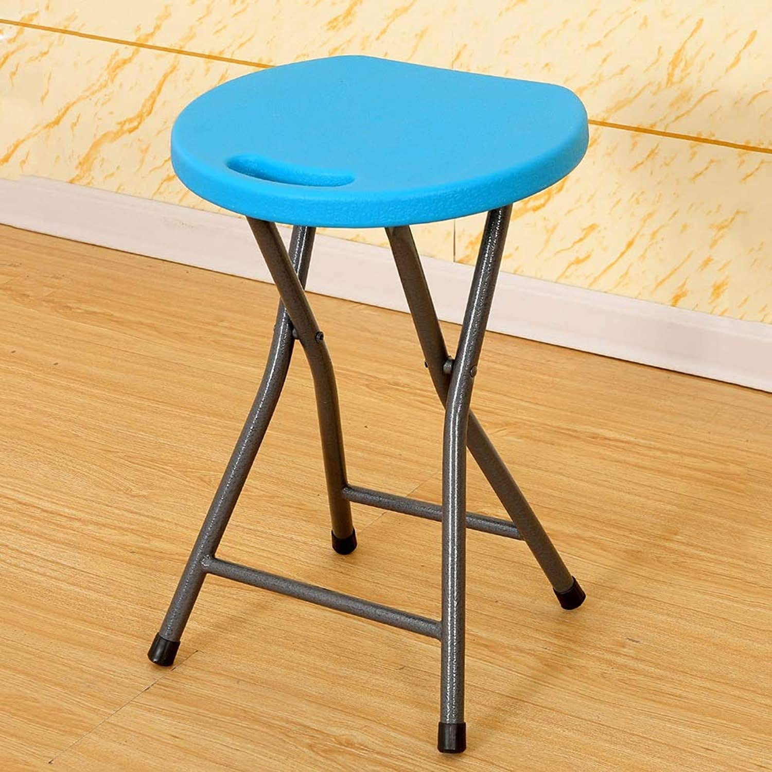 Sjch Portable Plastic Chair Durable Steel Frame Legs for 300 Pound Capacity Easy Carry Handle Weather Impact Resistant for Indoor Outdoor Use White