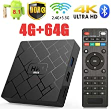 Android 8.1 TV Box HK1 Max 4GB RAM 64GB ROM Bluetooth 4.1 Support Dual-WiFi 2.4GHz/5GHz Android TV Box RK3328 Full HD 4K Support 3D WiFi VP9 HDR H.264