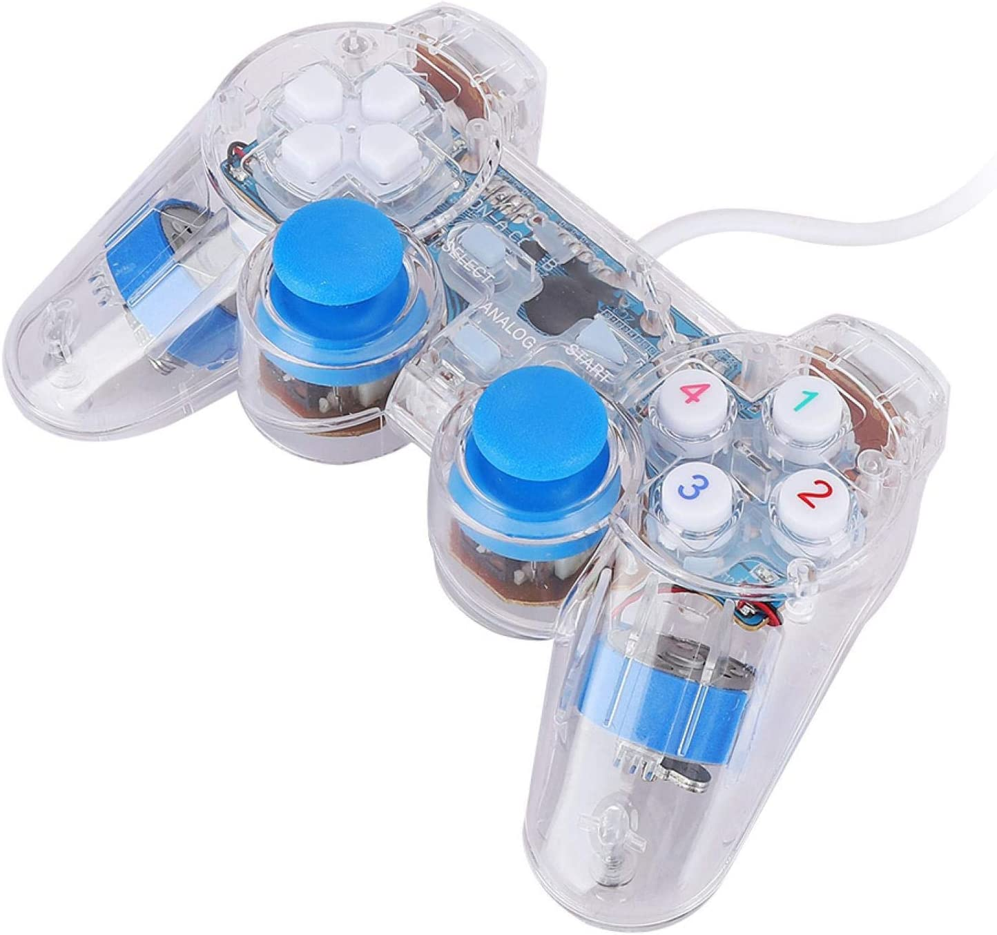 Game Console Outstanding Wired USB Transparent Controller Over item handling ☆