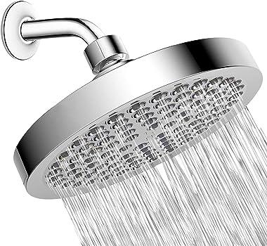 PETIARKIT Shower Head High Pressure Rain, Luxury Bathroom Showerhead with Chrome Plated Finish, Adjustable Angles, Anti-Clogg