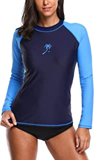 Anwell Womens UV Protection Long Raglan Sleeve Rash Guard UPF50+ Swim Shirt