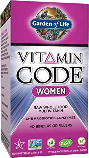 Garden of Life Multivitamin for Women - Vitamin Code Women's Raw Whole Food Vitamin Supplement with Probiotics, Vegetarian, 120 Capsules