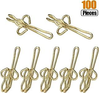 RSVLEISI Drapery Hooks - Curtain Hooks Pinch Pleated Curtains Pins Metal Pin-On Drapery Hooks for Window Curtain, Door Curtain and Decorative Shower Curtain Hooks, Golden