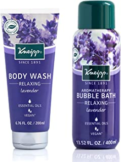 Relaxation Body Wash & Bubble Bath Duo with Lavender Essential Oil