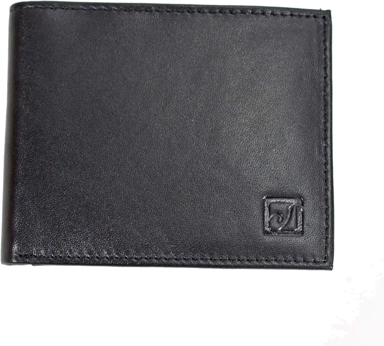 Stone Mountain Bi-Fold Full Grain Leather Black Wallet