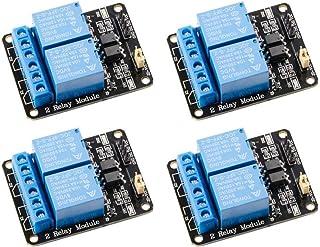 DollaTek 4 Pezzi Modulo relè 5V 2 canali 5V con optocoupler Scheda di espansione Trigger a Basso Livello per Arduino Uno R...