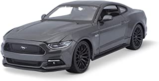 Maisto Ford Mustang GT 2015: Original Scale Car, Scale 1:24, Doors and Hood Movable, Finished, 20 cm, Grey (531508)