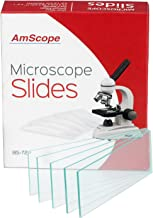 AmScope 72 pcs. Blank Microscope Slides, Pre-Cleaned Glass Slides for Microscopes