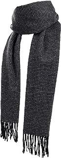 Runtlly Men's Winter Cashmere Scarf Stripes Warm Soft Scarves with Tassel Luxurious Winter Scarf For Men Women