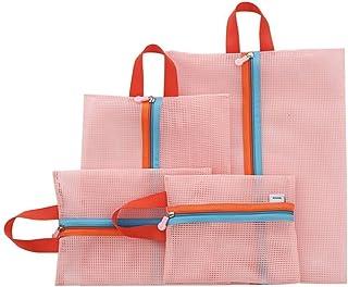 PINDIA Pink Set of 4 (Different Sizes) Portable Multifunctional Travel Handbag Cosmetic Makeup Case