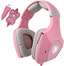 SADES una serie Pro PC Gaming Auriculares Diadema estéreo de sonido envolvente auriculares de diadema con micrófono de luz...