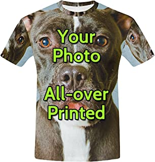 Personalized Custom T Shirts Design Your Own Picture or Text Printed Two Sides
