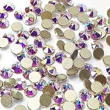 1440pcs Brilliant Round Flat Back Rhinestones, DIY Nails Rhinestones Crystal Round Gems Glass Stones (AB, 4 mm)
