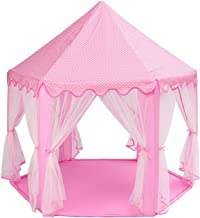 POCO DIVO Princess Castle Girls Play House Indoor Pink Toy Tents Kids Outdoor Playhouse